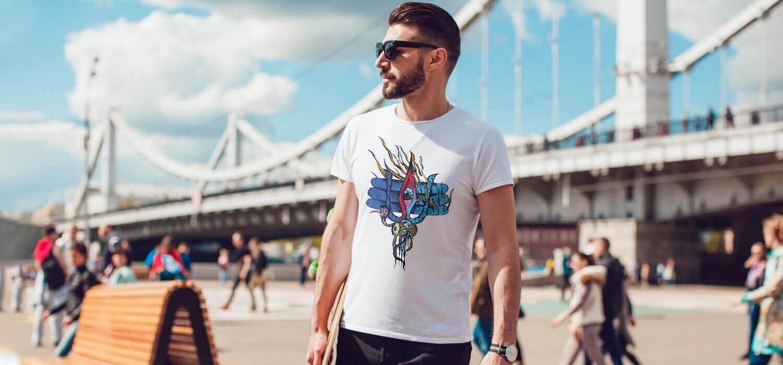 Shiva Third Eye white t shirt for men online