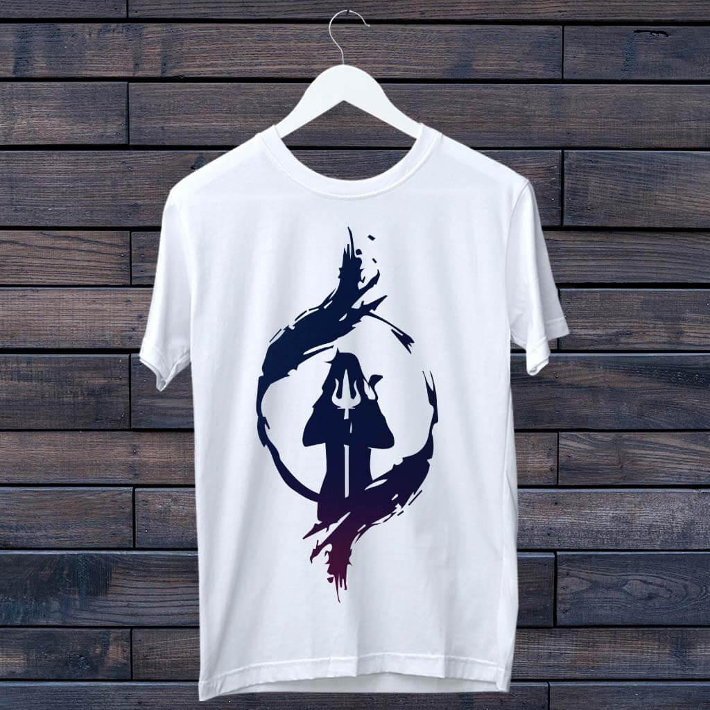 Buy Lord Shiva Trishul T-Shirt | Prabhu Bhakti