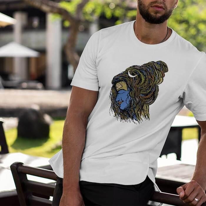 Stylish Mahakaal white t shirt for men