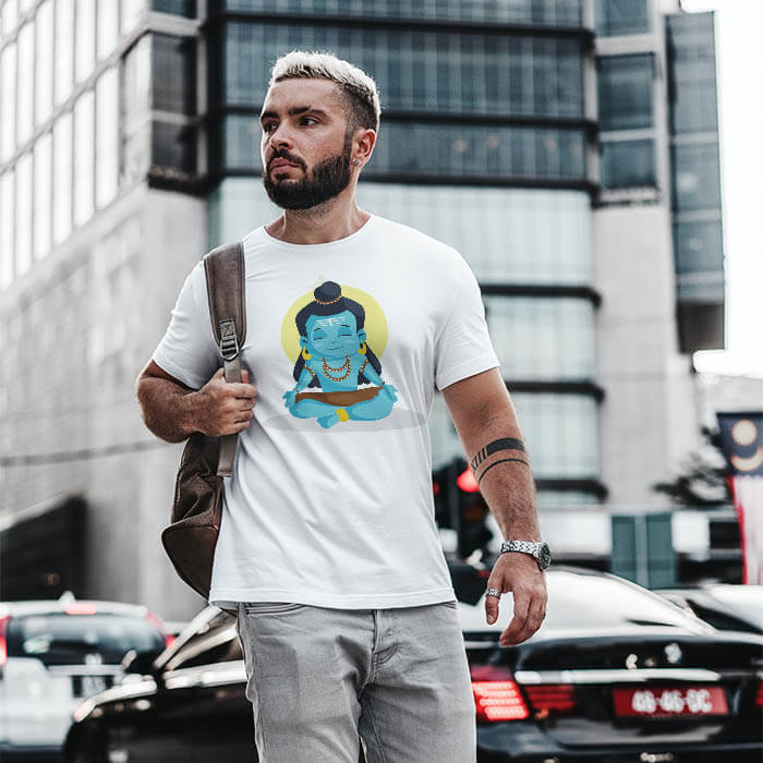 for men shiva cartoon t shirt online