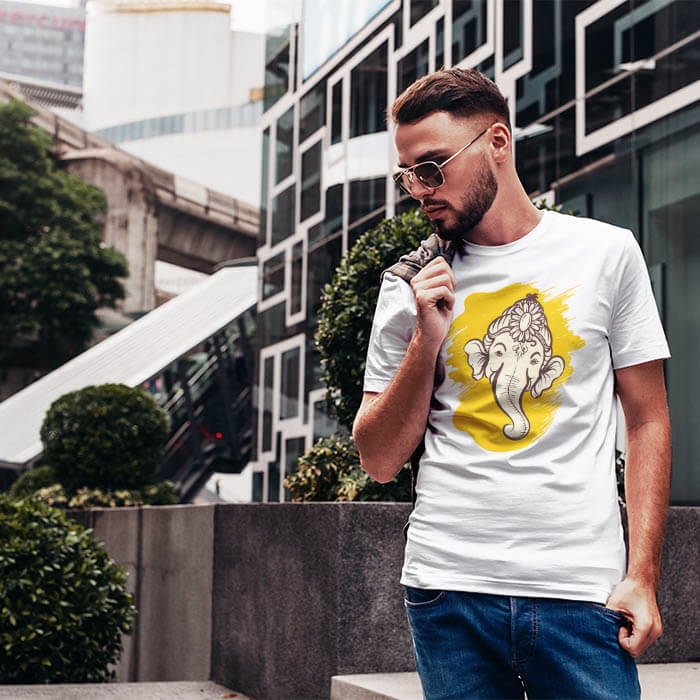 ganesh printed t shirt for men