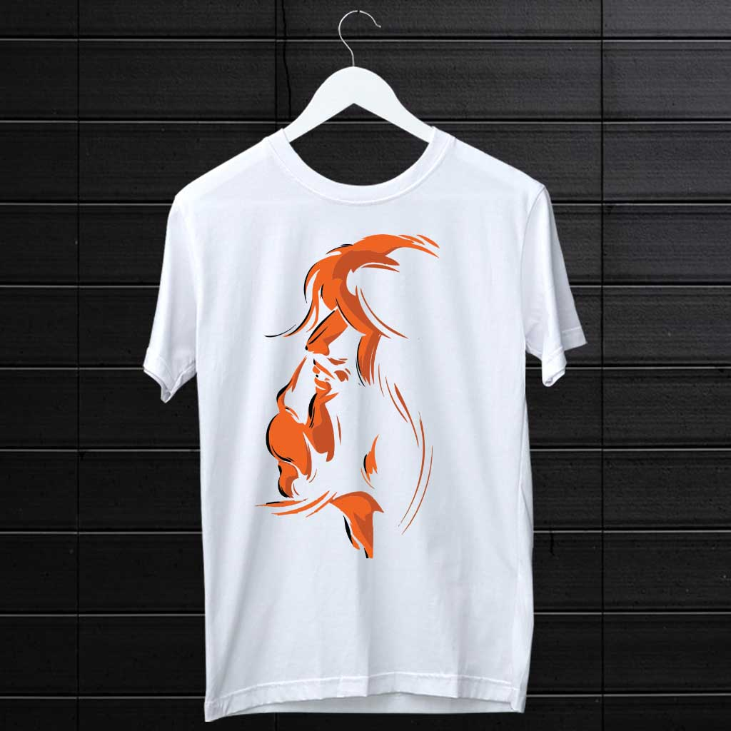Hanuman Portrait Attractive Style Art Design Printed T-Shirt | Prabhu Bhakti