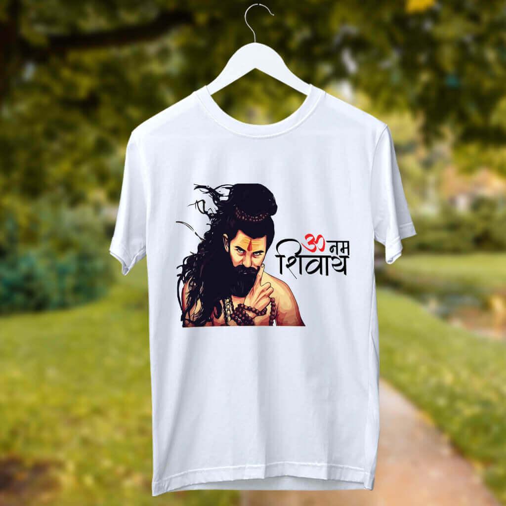 Om Namah Shivaya Potrait Print T-Shirt