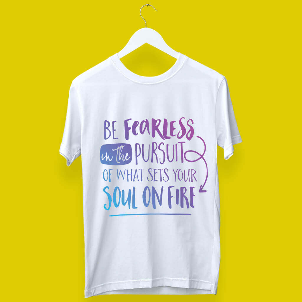 Cool Round Neck T-Shirts Quotes and Sayings | White Color | Prabhu Bhakti