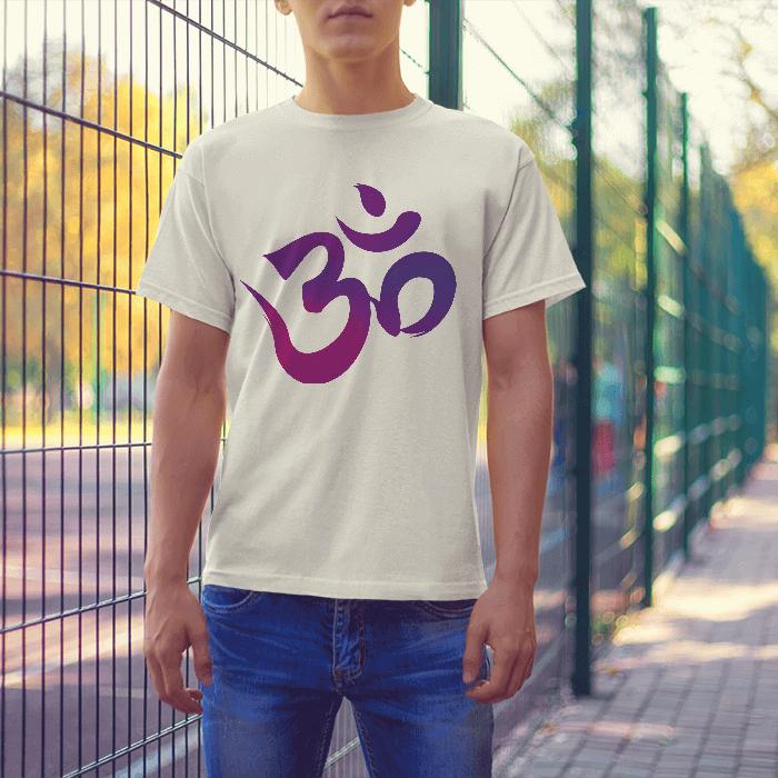 om symbol yoga tshirt printed