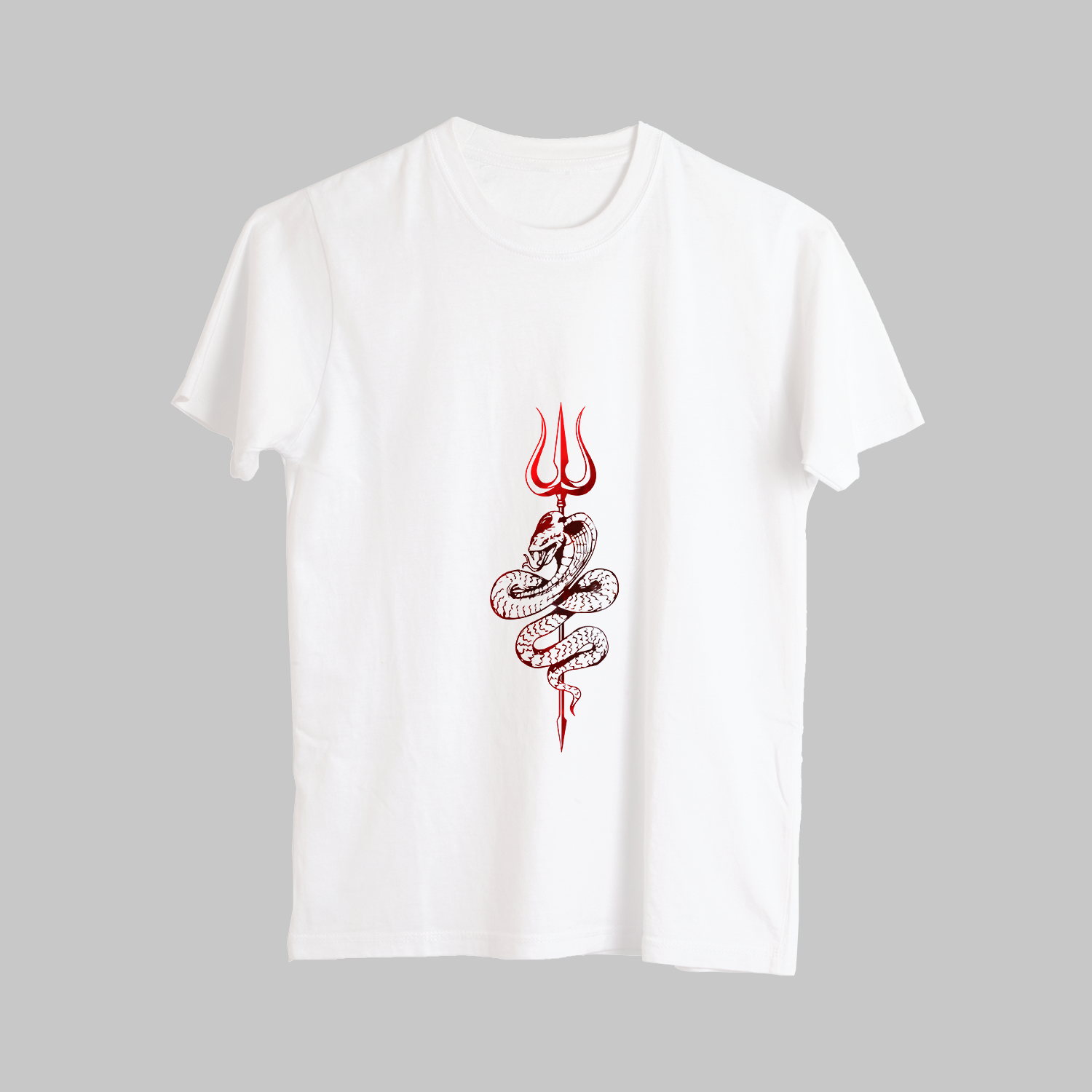 Unique Trishul With Sheesh Naag Street Style Printed T-Shirt