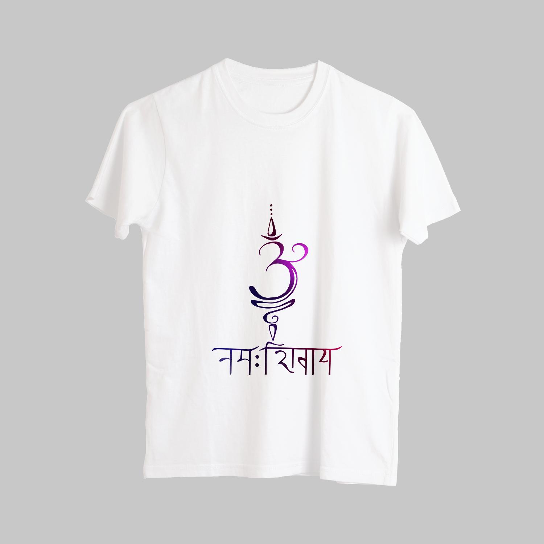 Unique Om Namah Shivaya (ओम नमः शिवाय) Printed T-Shirt