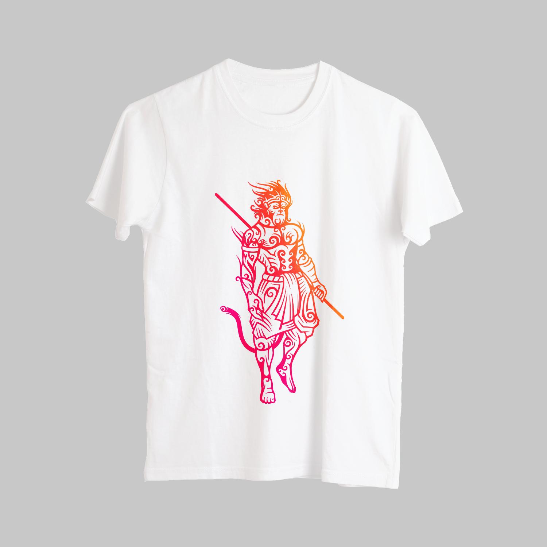 Unique HD Monkey King Printed T-Shirt