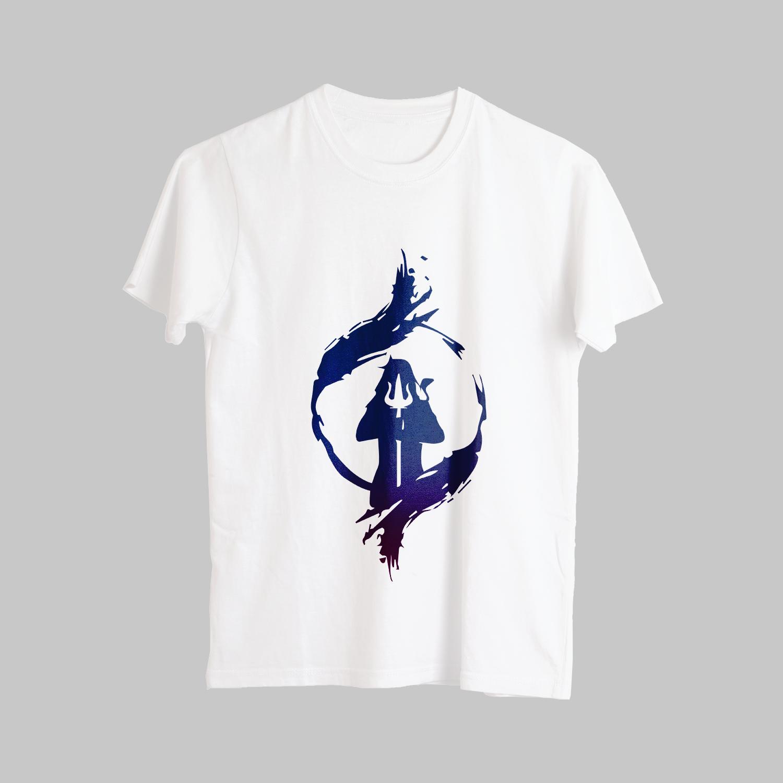Unique Street Style Shiva Design Printed T-Shirt