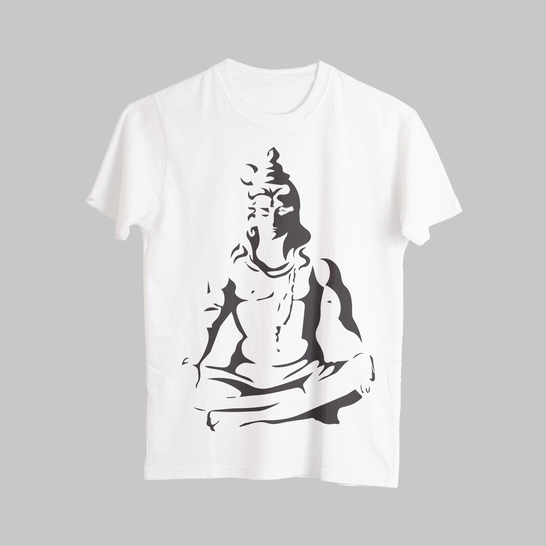 Mahakal Potrait Printed T-Shirt