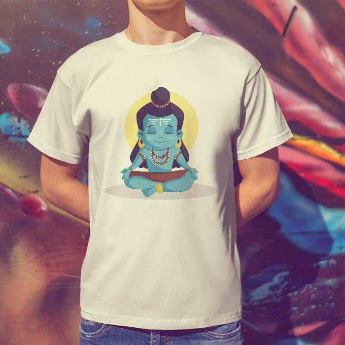 shiva cartoon t shirt