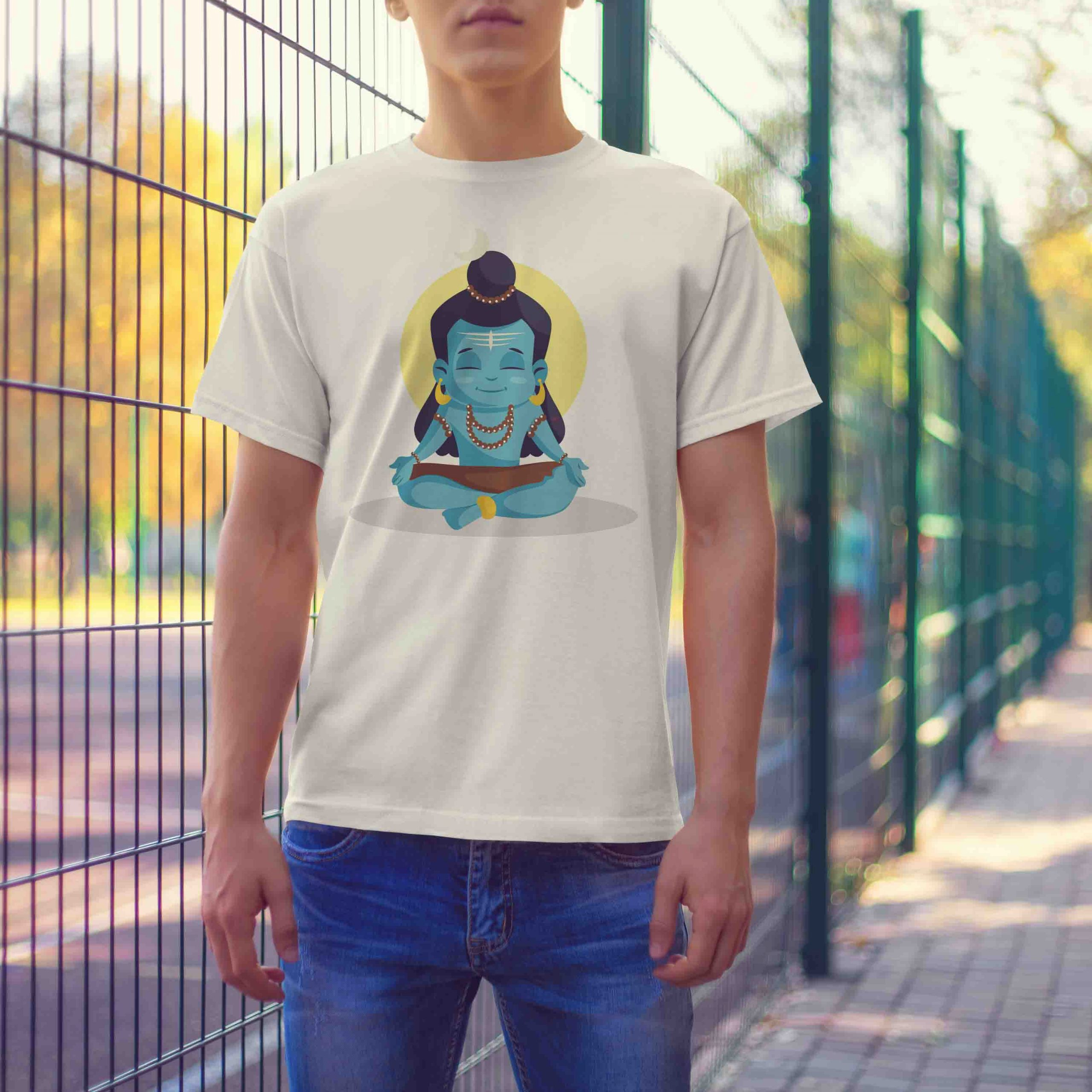 shiva cartoon t shirt for men