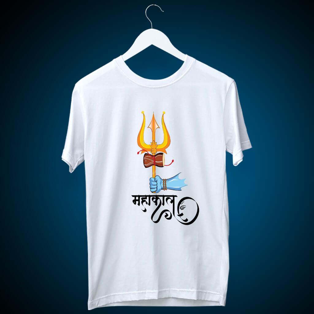 Beautiful art of Mahakal with Ganesh t shirt for men online