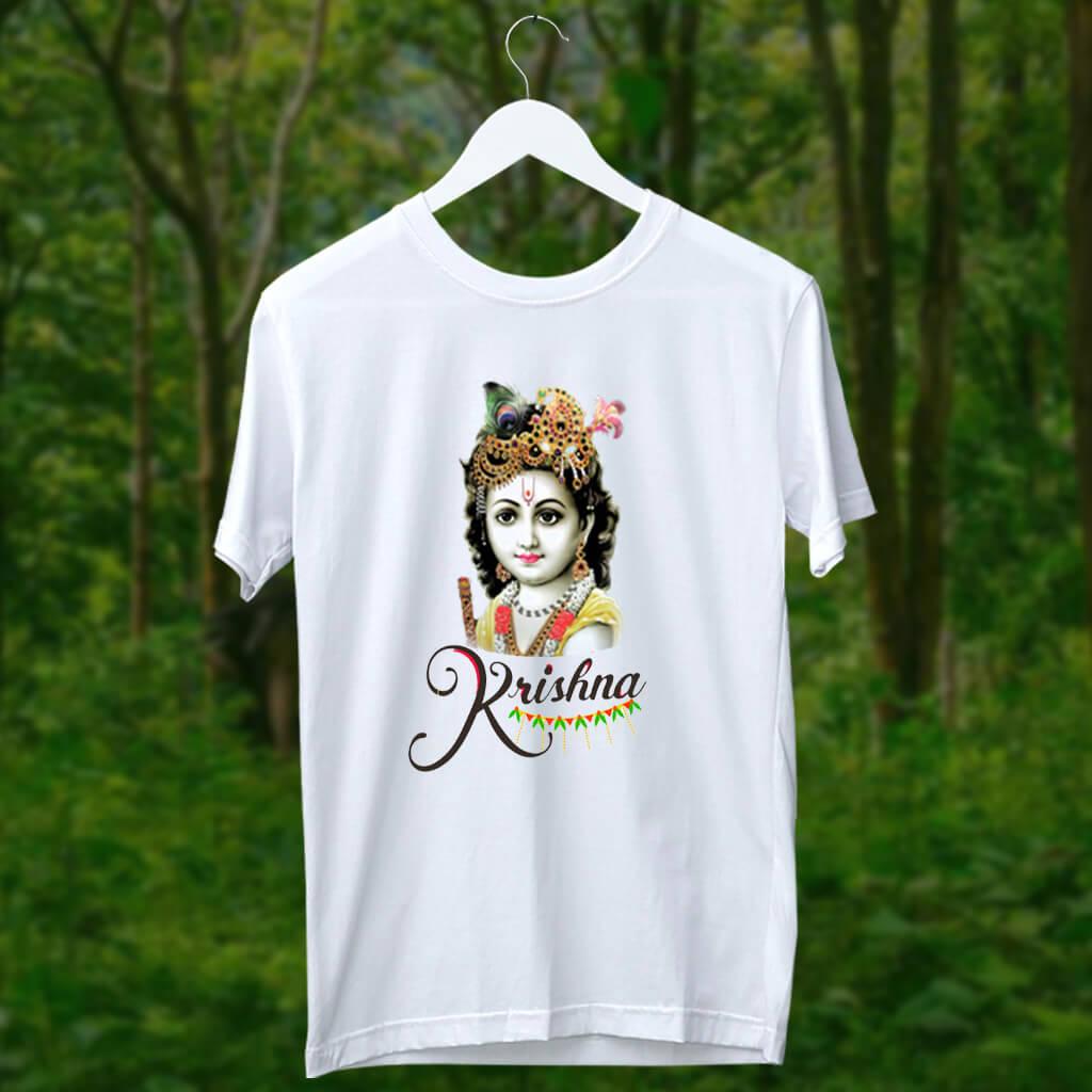 Beautiful photos Lord Krishna t shirt for men online