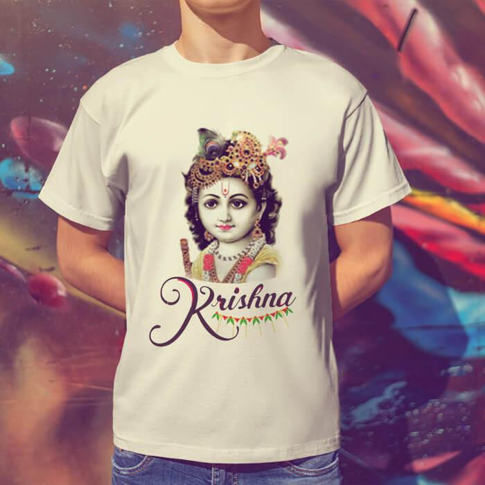 Beautiful photos Lord Krishna t-shirt for men