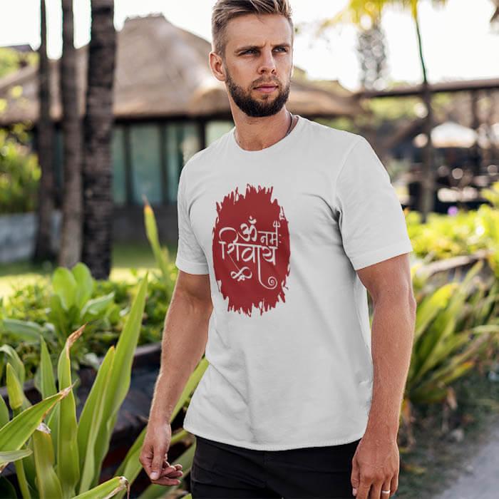 Best Om Namah Shivay printed latest t shirt for mens