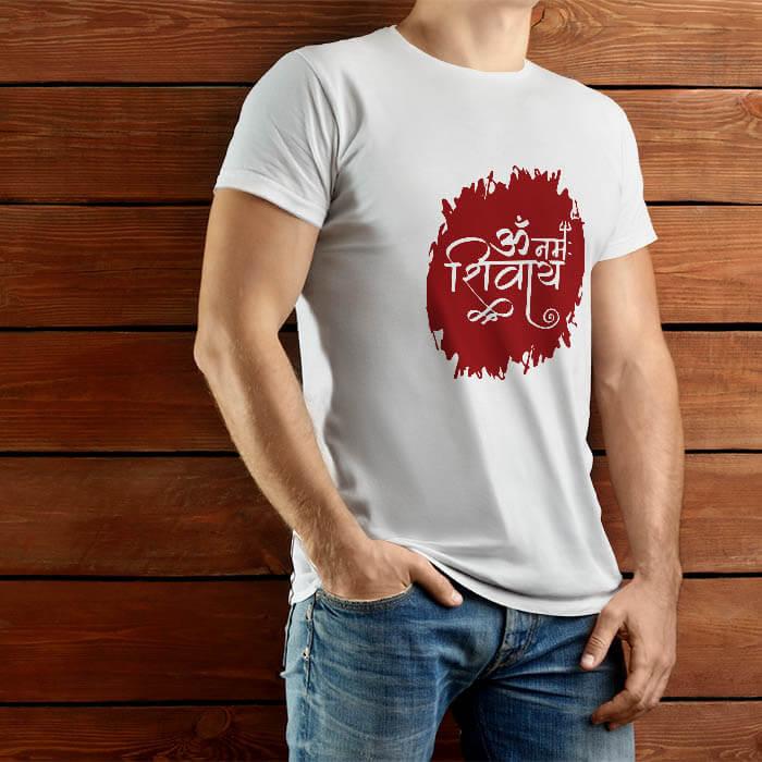 Best Om Namah Shivay printed mens t-shirt