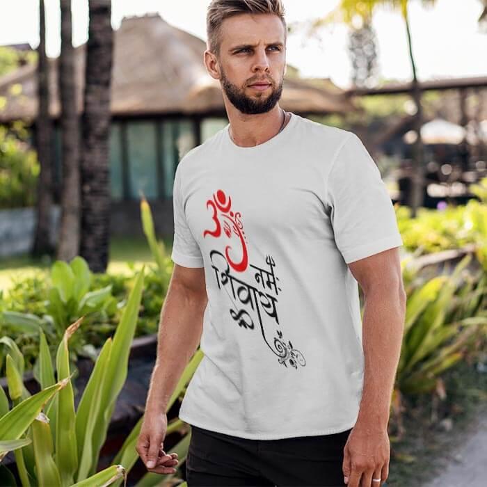 Best art Ganesha with OM Namah Shivay t shirt for men online