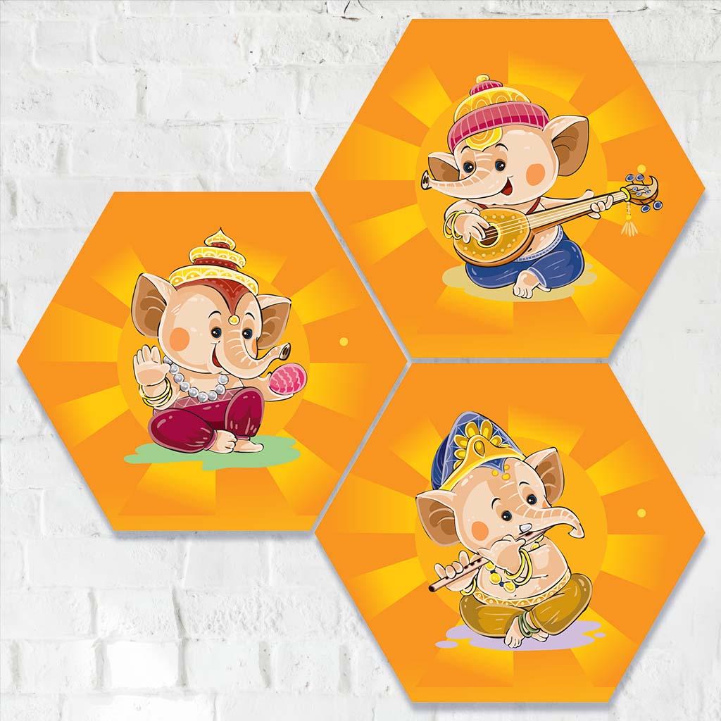 Cute Ganesha Paintings For Home Decor