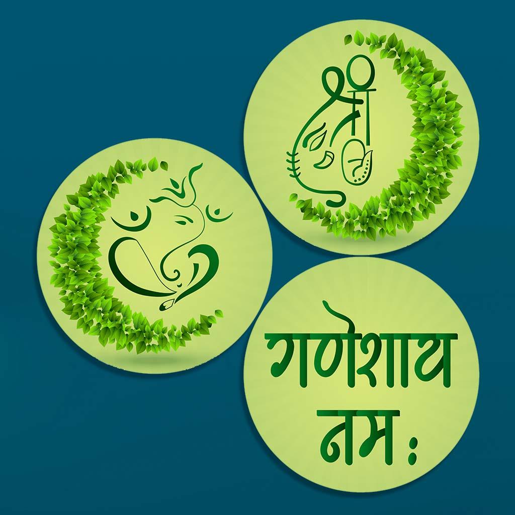 Ganesha circle attracttive design