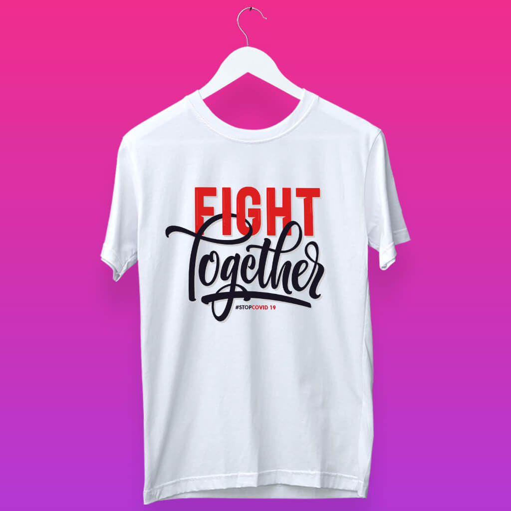 Fight together quotes white t shirt