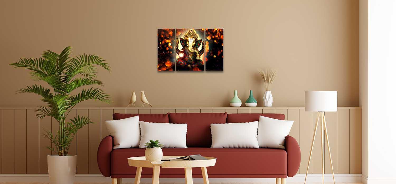 Ganesha Art Bedroom Wall Paintings