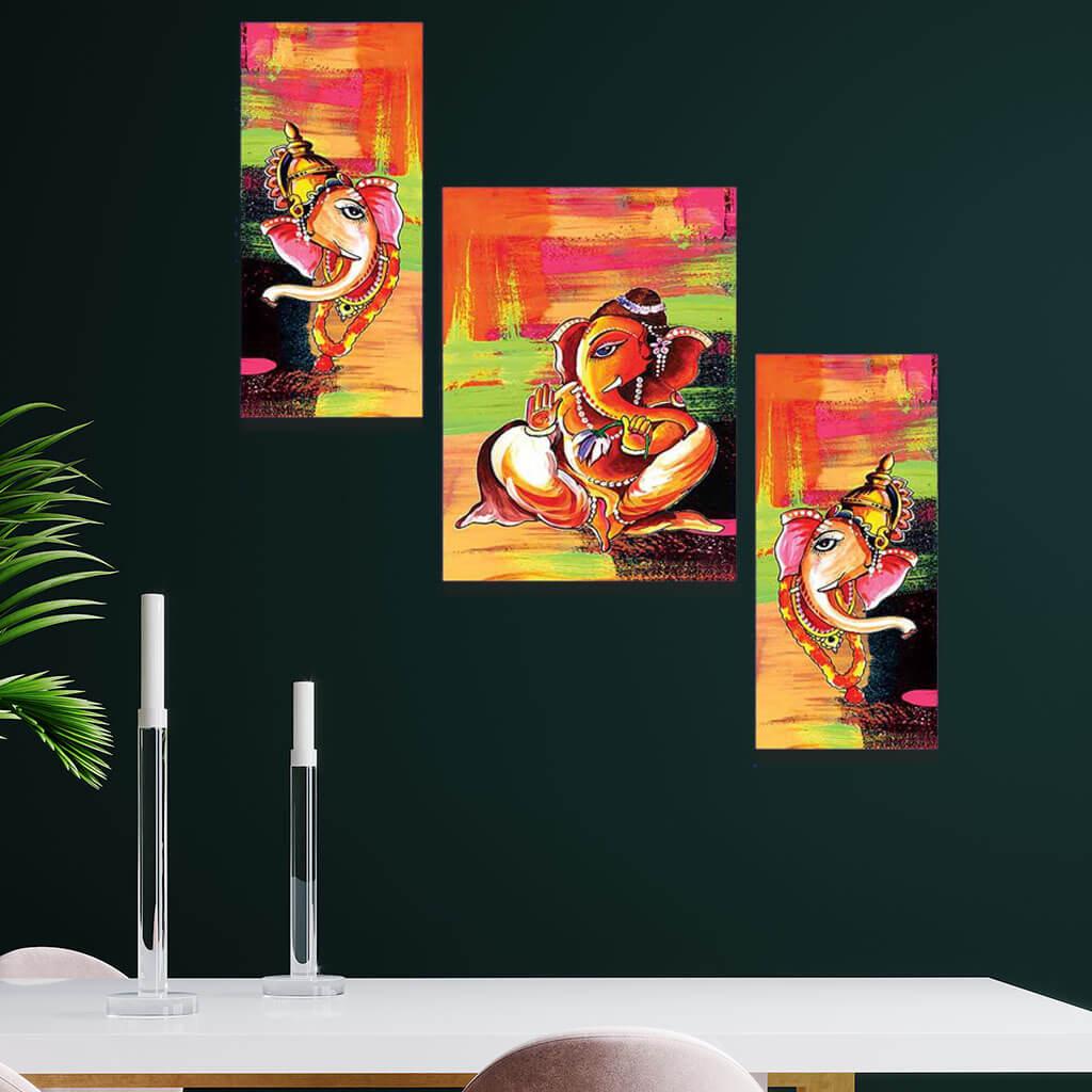 Beautiful Watercolor Lord Ganesh Home Decor