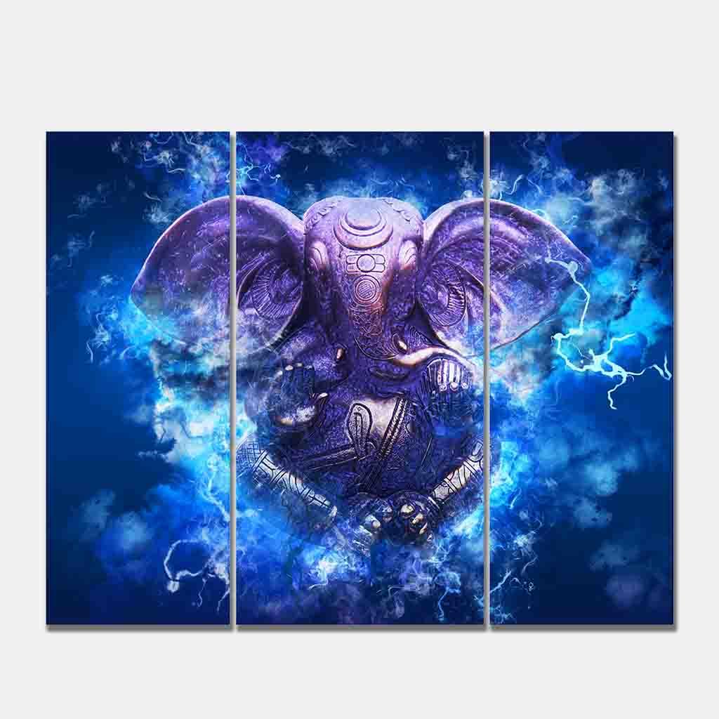 Blue Ganesha Wall Art