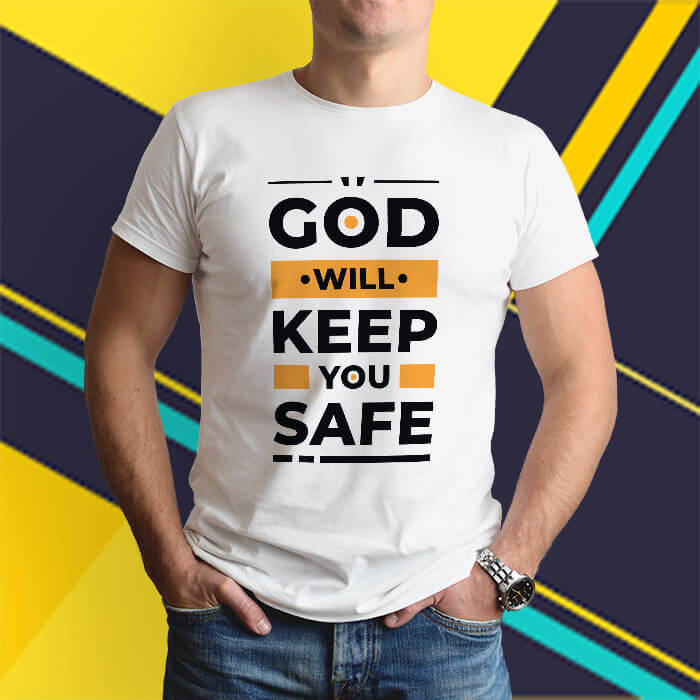 God quotes text on t shirt online