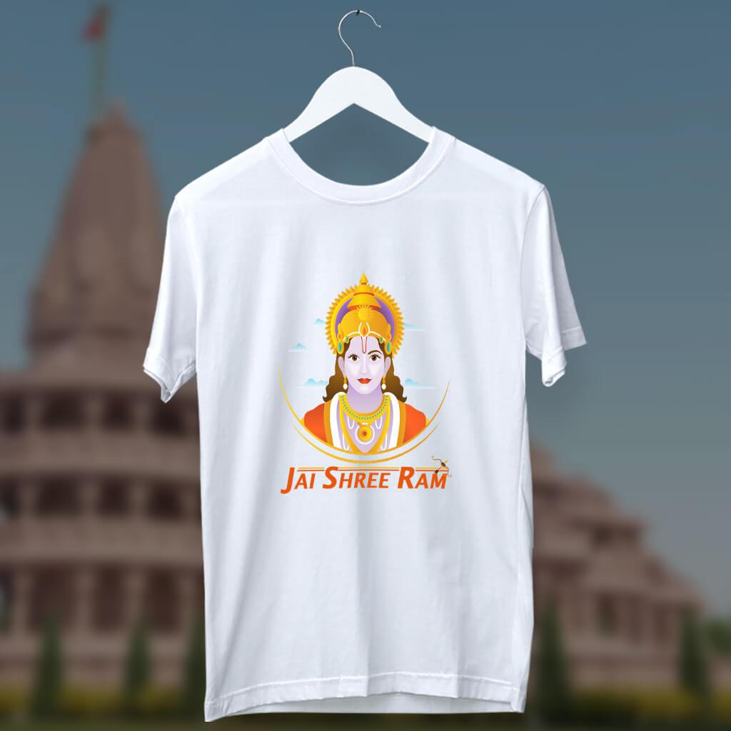 Jai Shree Ram quotes white t shirt