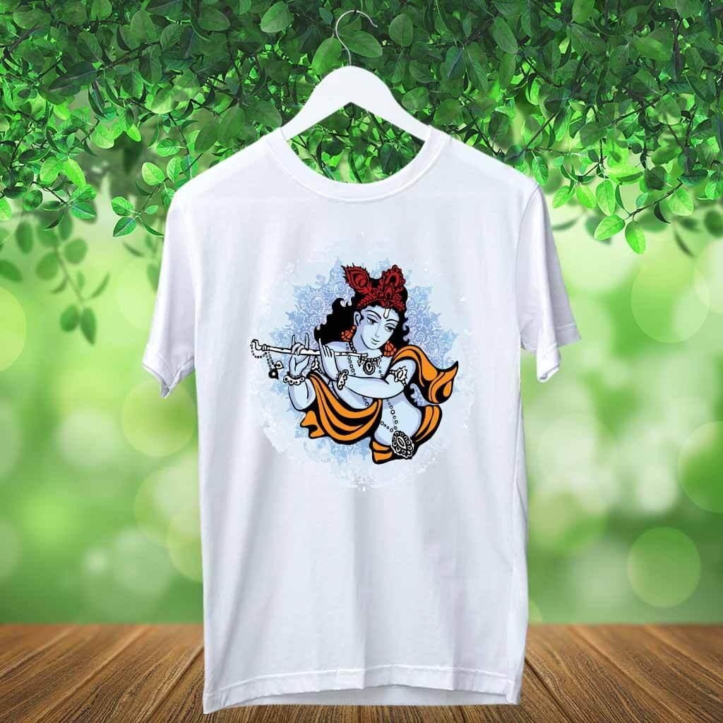 Krishna Best Portrait Round Neck T Shirt