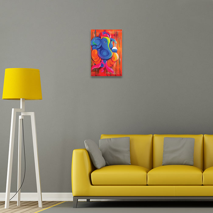 Lord Ganesha Painting Home Decor Pictures
