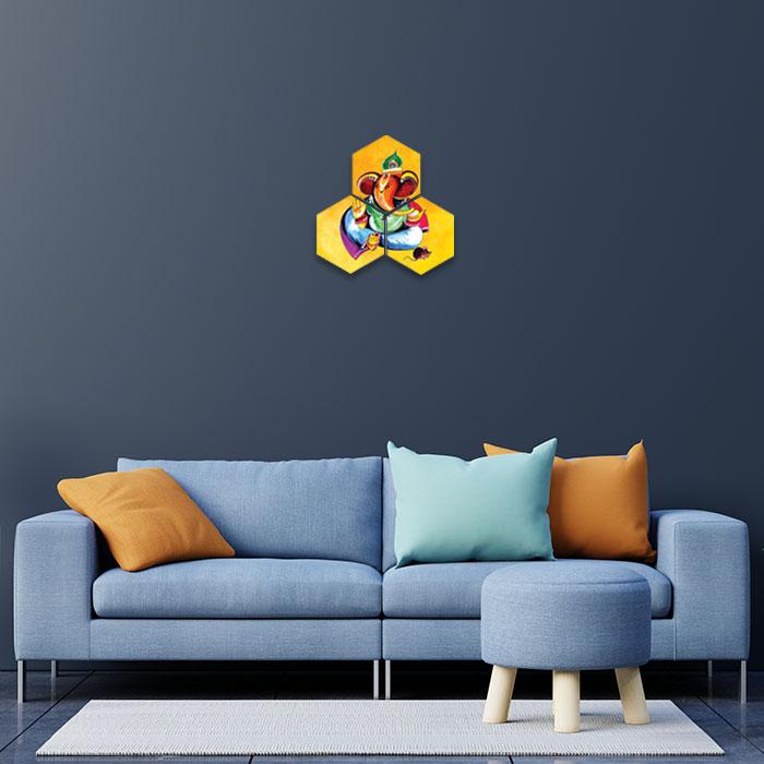 Lord Ganesha Photo Home Decor Painting