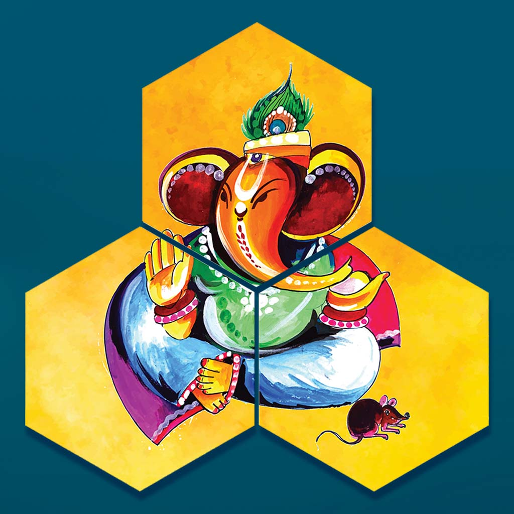Lord Ganesha Photo Paintings For Home Decor