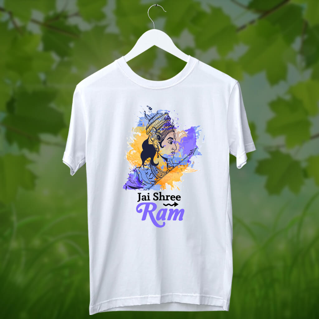 Lord Ram painting with multicolor t shirt for men online
