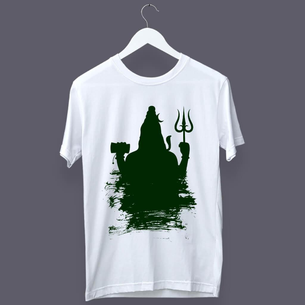 Lord Shiva shadow mens t shirt online