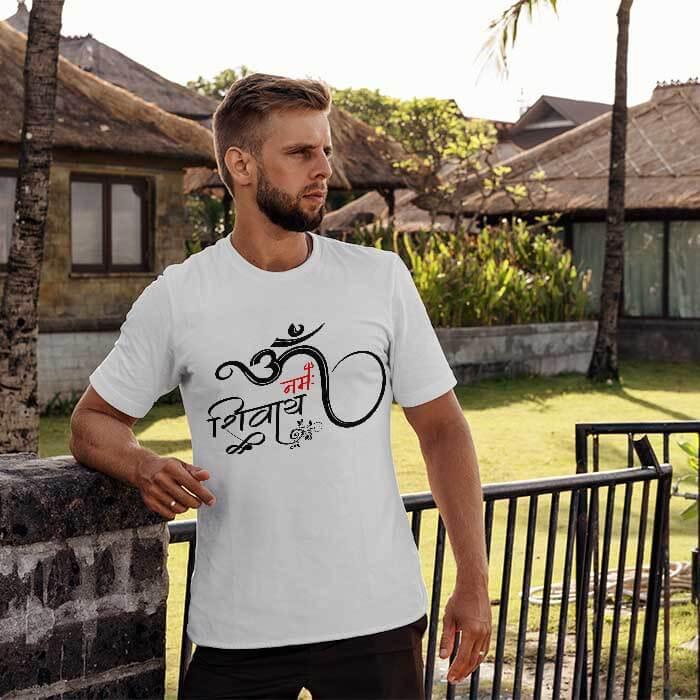 OM Namah Shivay art designed t-shirt for men
