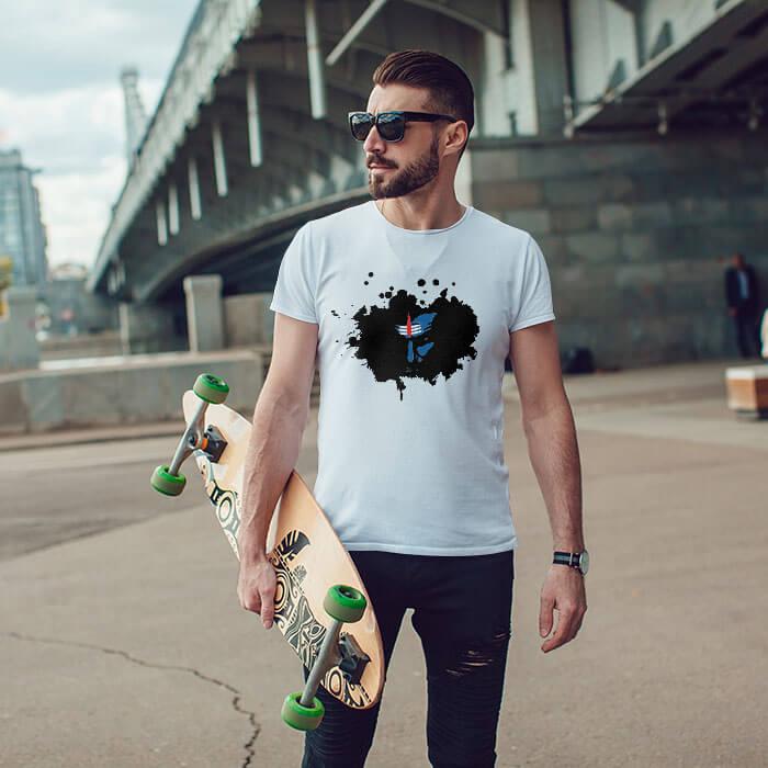 Shiva Sketch white t-shirt for men