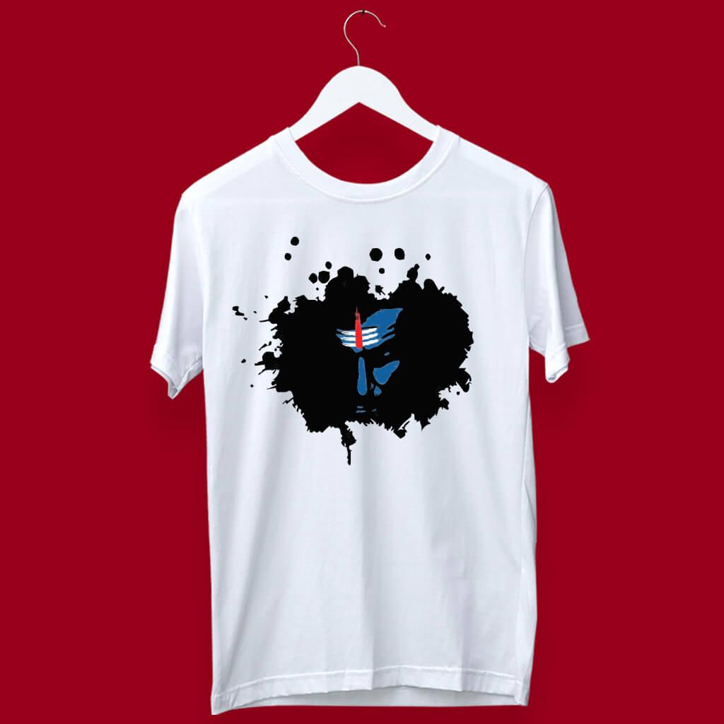 Shiva Sketch white t shirt for men