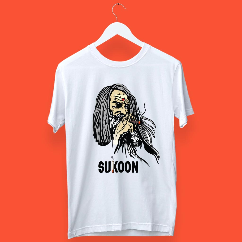 Stylsih Aghori with Sukoon t-shirt for men