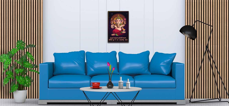 Vighnaharta Shree Ganesha Paintings For Home Decor