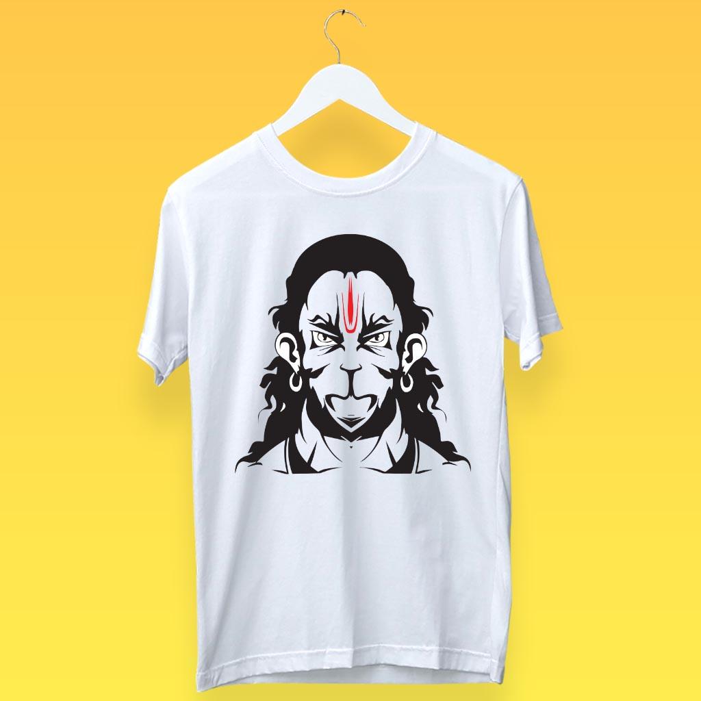 Rudra Hanuman Sketch Best T Shirt For Men