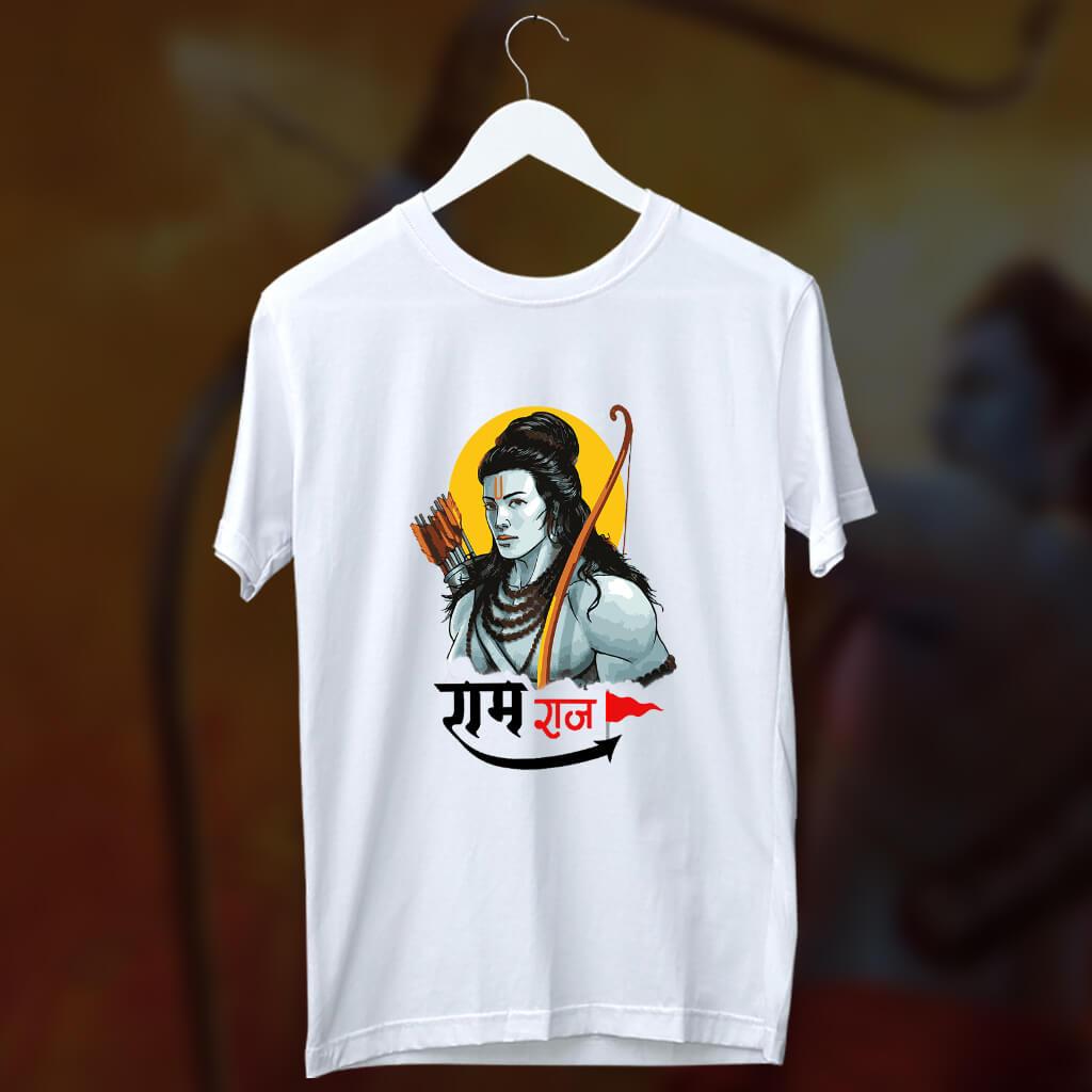 Ram Rajya Sketch Printed T Shirt For Men