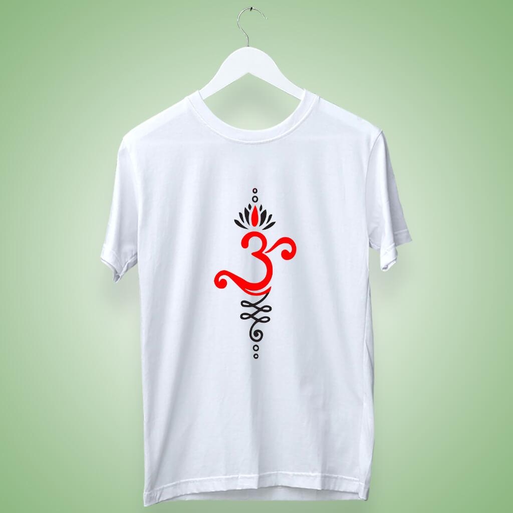 OM art design printed t shirt for men
