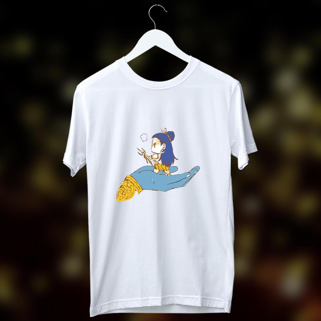Little Shiva best painting printed t shirt for men