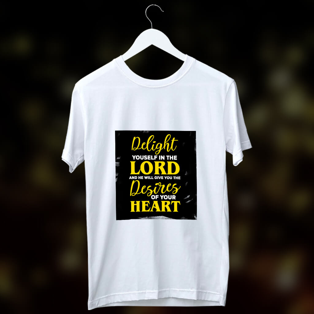 Motivational quotes about god printed round neck t shirt
