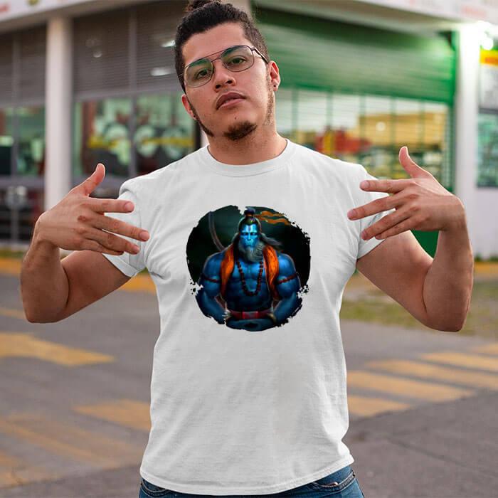Bajrang bali best image printed round neck t-shirt