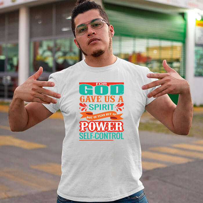 Best God quotes with designed printed long t shirt for men