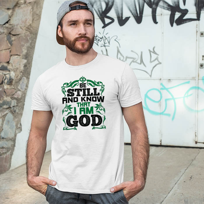 Best motivational quotes with designed printed white t-shirt for men