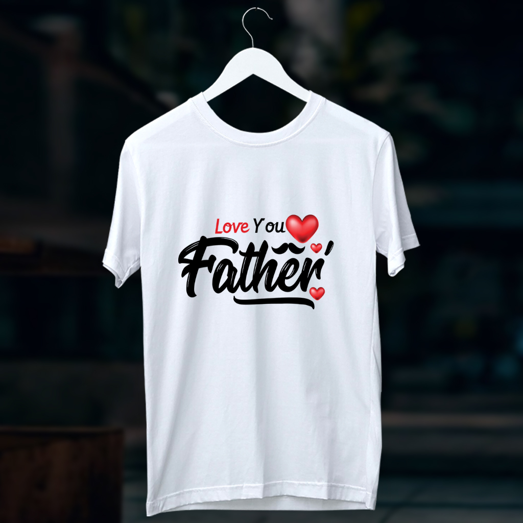 Father quotes from son printed white t shirt